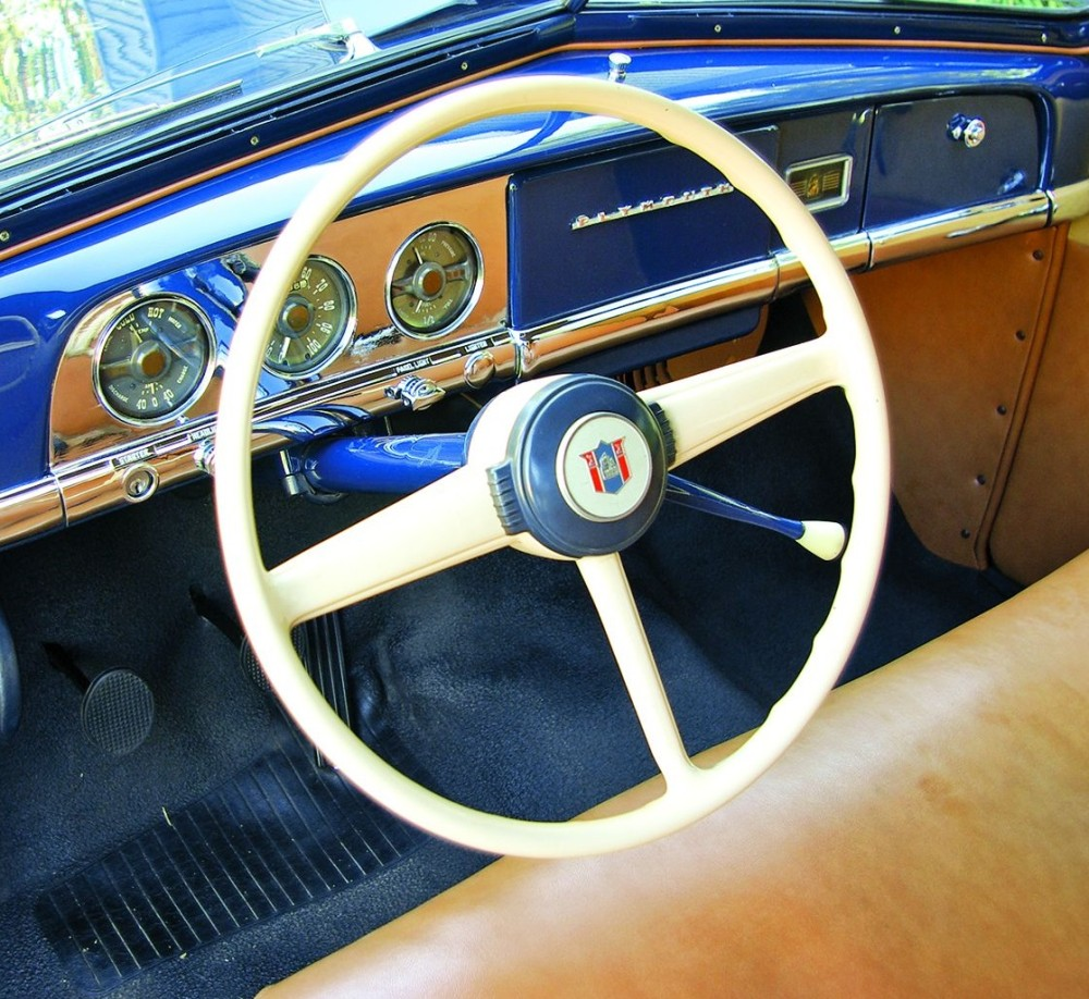 medium resolution of with minimal standard equipment and virtually no options the interior features a horn button instead of a horn ring a mayflower badge instead of a clock
