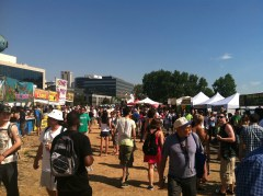 Seattle Hempfest Booths and a solid crowd