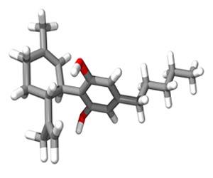 The CBD or Cannabidiol molecule