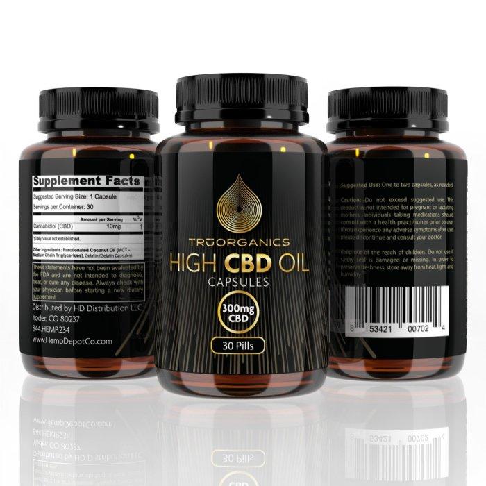 Tru Organics – Softgel CBD Pills