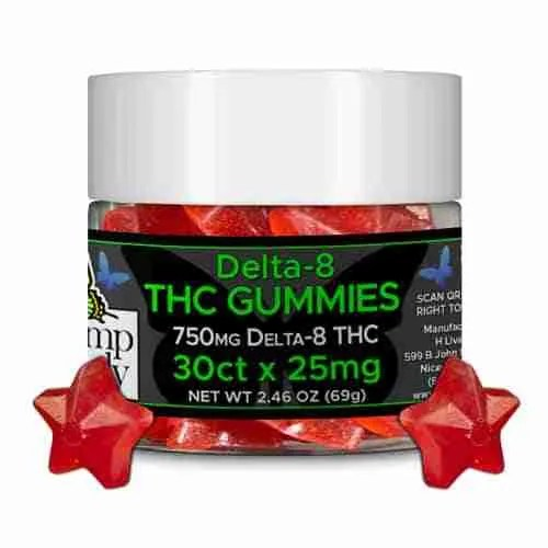 Hemp Lively Delta 8 THC Gummies Stars 30ct x 25mg 1