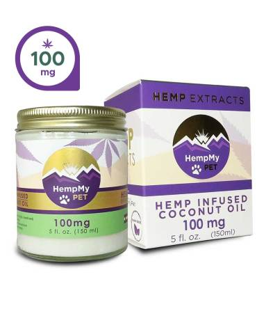 Hemp Infused Organic Coconut Oil - 100mg CBD Full Spectrum (5 fl. oz jar)
