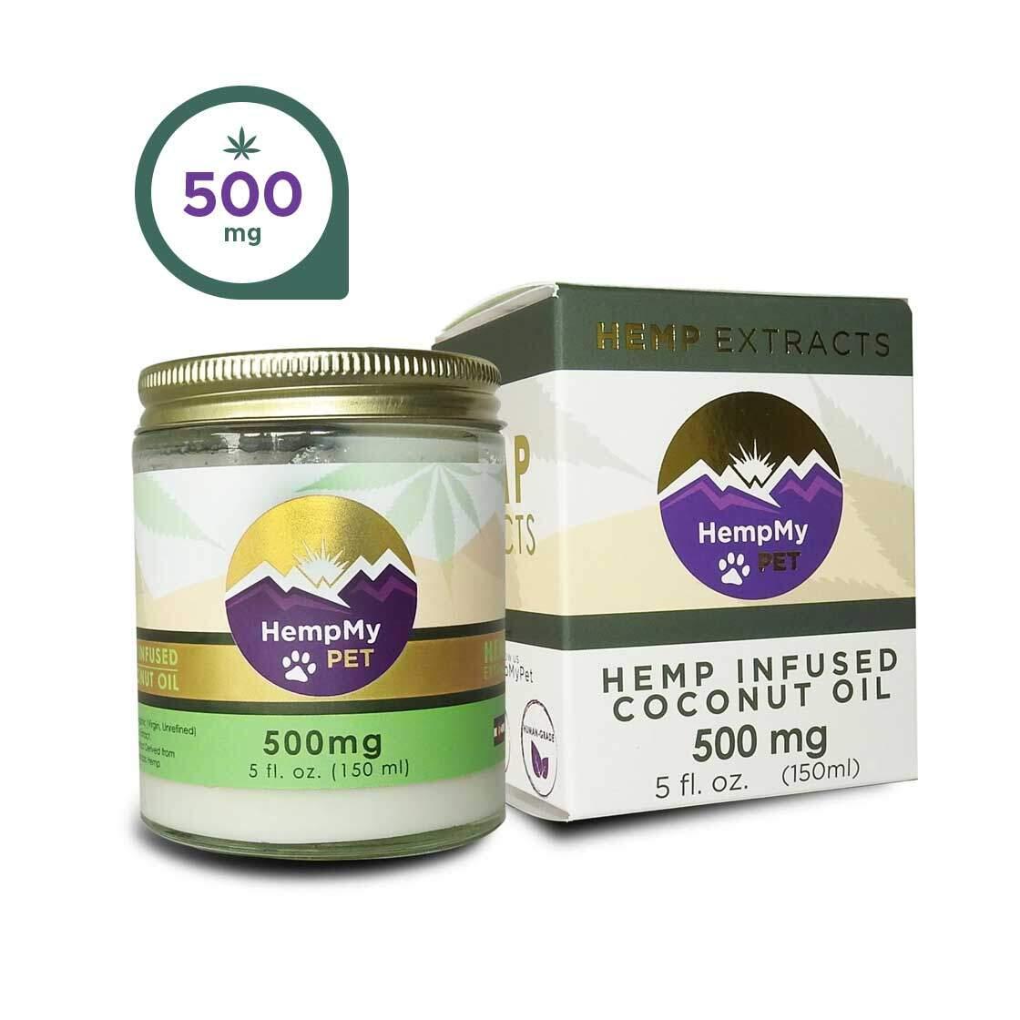 Hemp Infused Organic Coconut Oil - 500mg CBD (5 fl. oz jar)