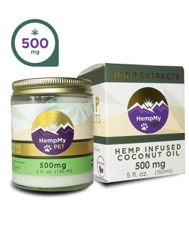 Hemp Infused Organic Coconut Oil - 500mg CBD Full Spectrum (5 fl. oz jar)