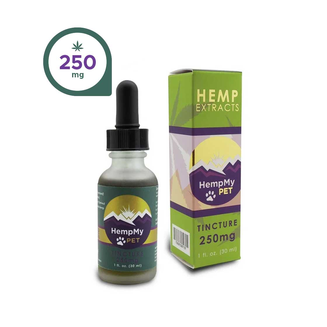 Hemp Seed Oil, Organic - 250mg CBD Full Spectrum (1 fl. oz. bottle)