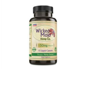 wicked mojo CBD Hemp Oil Capsules 150mg