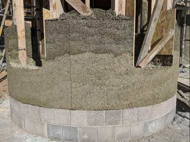 House being made with Hemp