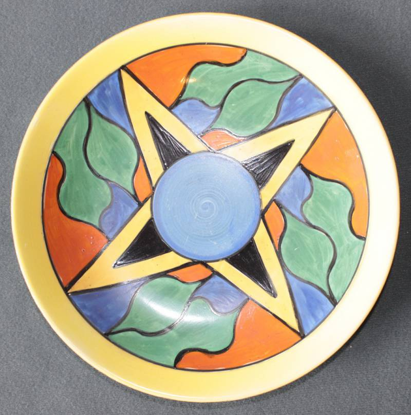 Clarice Cliff Abstract Design Wall Plate Ceramics