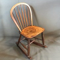 Victorian Small Kitchen Rocking Chair - Antique Chairs ...