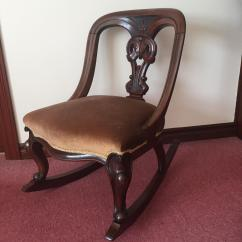 Antique Victorian Folding Rocking Chair Where To Buy Webbing Mahogany Chairs
