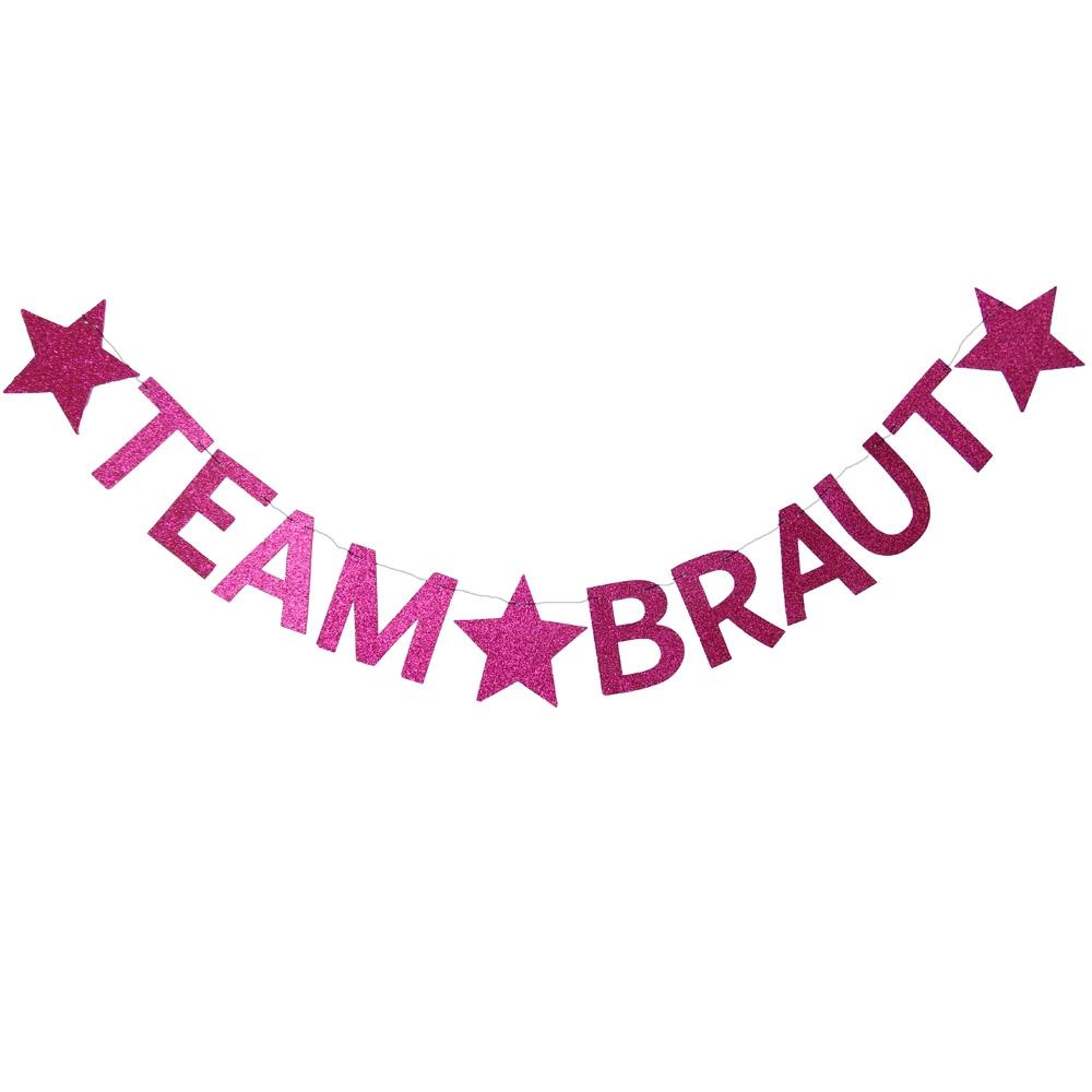 JGA DekoGirlande Team Braut  Pink  online kaufen
