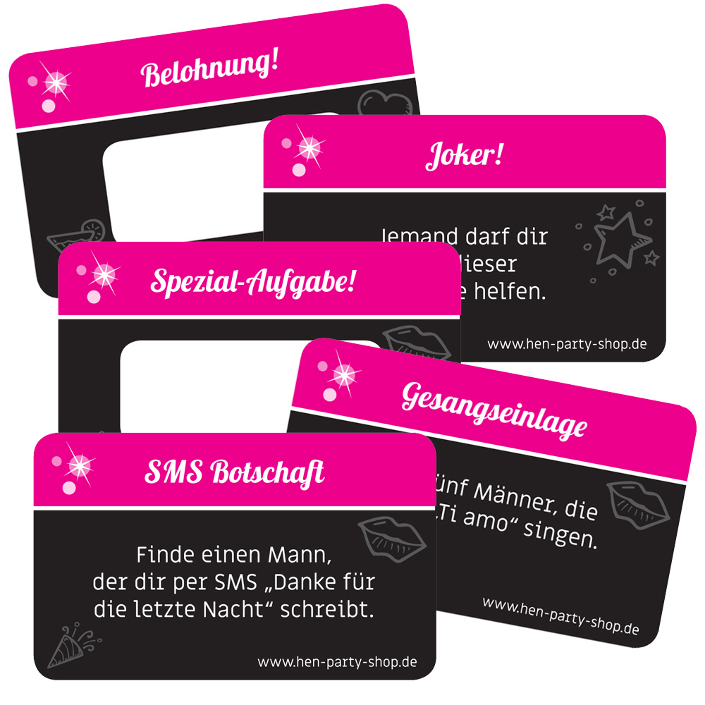 JGASpiel Braut Challenge  AufgabenKarten  online kaufen