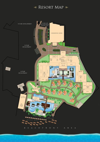 Henann Resort Alona Beach, Bohol • Resort Map