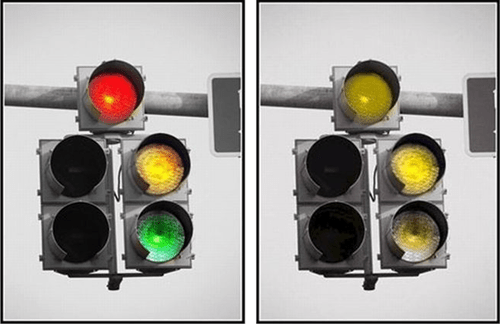 Image result for colour blind, traffic lights