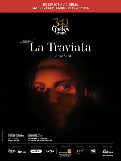 Affiche de l'opéra filmé La Traviata