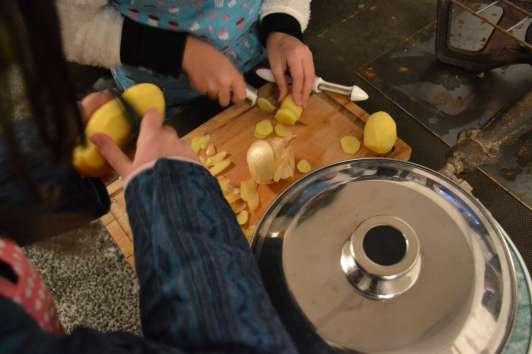 Concours d'omelette, préparation