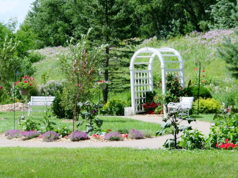 The hummingbird garden in Henderson, MN
