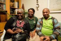 Good times: Lungi Ngondo, Ama Ngondo and Wally Ngondo at the launch of 'Enter'   photo credit: Oscar O'Ryan