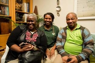 Good times: Lungi Ngondo, Ama Ngondo and Wally Ngondo at the launch of 'Enter' | photo credit: Oscar O'Ryan