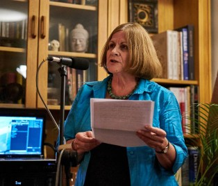 "Penny reading from Paul Ashton's introduction to the book: ""Many of us live in a state of disconnection from our whole selves "" 