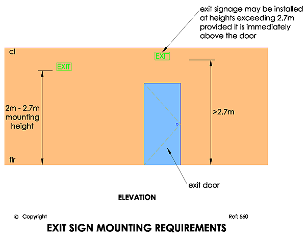 nicor exit sign wiring diagram