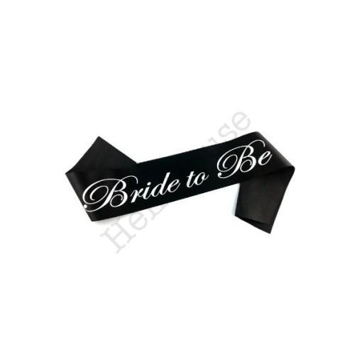 Black Bride to Be Sash