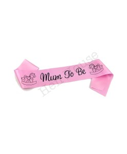 Pink Mum to Be Sash