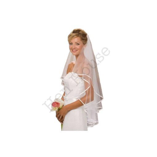 Two Layer Ribbon Lined Veil