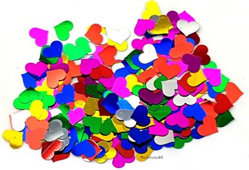 Colorful Heart Shaped Confetti