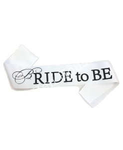 Bride to Be White & Black Sash