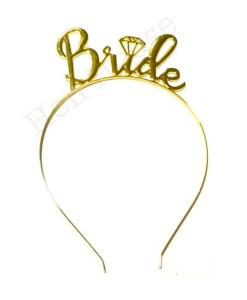 Gold Bride Headband