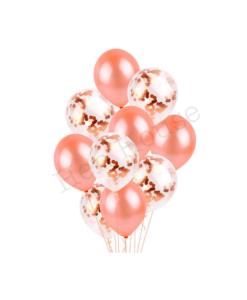 Rose Gold Confetti Balloon Set