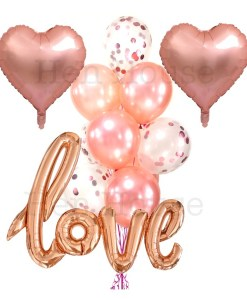 Rose Gold Love Balloon Set