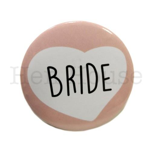 Bride Heart Badge
