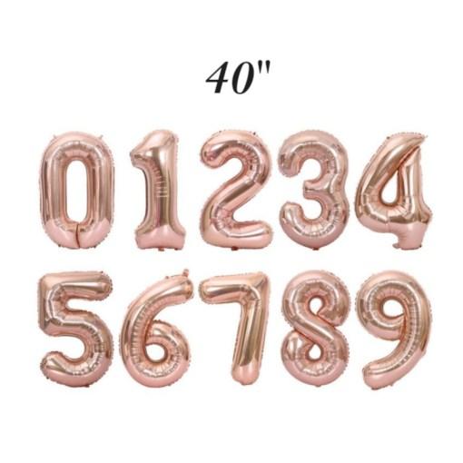 40 inch Rose Gold Number