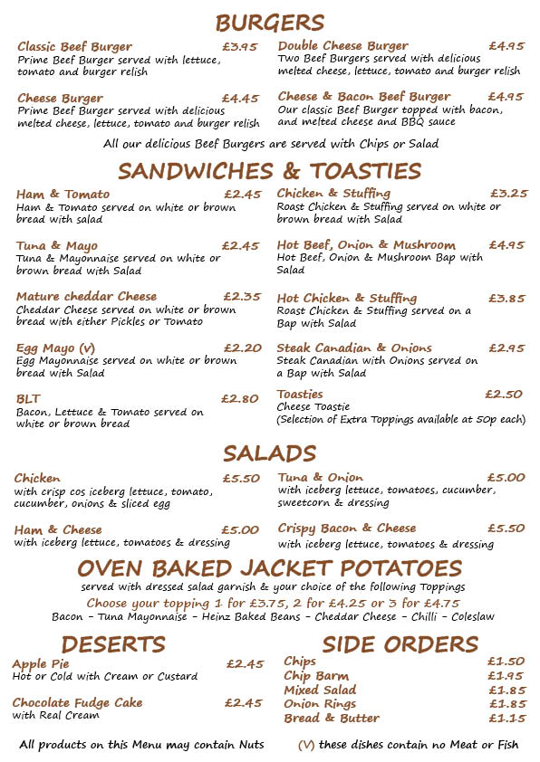 Henighans Food menu A4 06.03.132