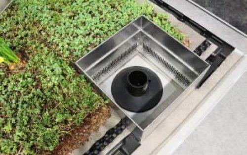 """Henke Dachdecker für Minden - Das """"Retentions-Gründach"""" speichert große Wassermengen gezielt auf dem Dach und lässt dieses zeitverzögert in die Kanalisation abfließen – zum Schutz vor Hochwassergefahr"""