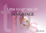 take sande marriage tips