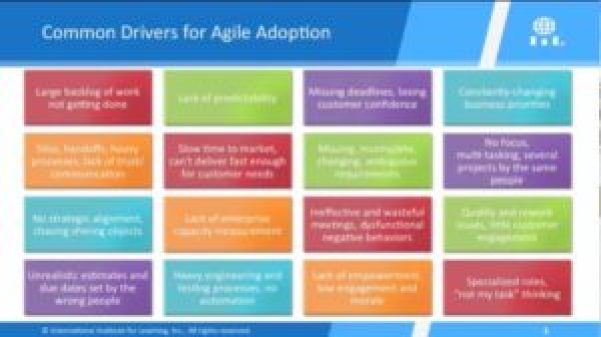 common drivers for agile adoption