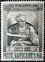 profeet joel op postzegel