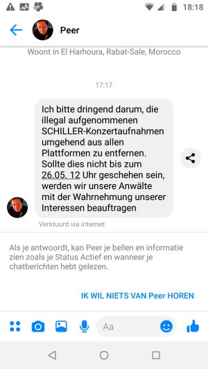 Peer wil opnamen verwijderd zien
