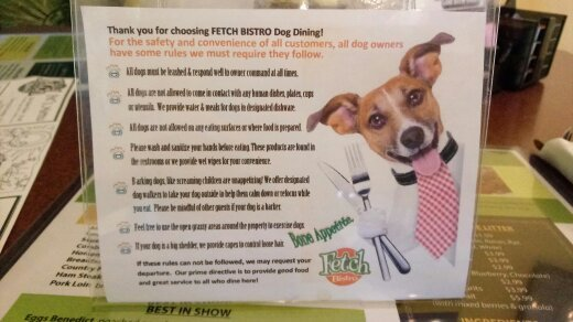 Three pet friendly places we frequent in wichita kansas henleys the rules may be a bit difficult to decipher in this photo but they include keeping your dog on a leash and under control refraining from sharing food solutioingenieria Images