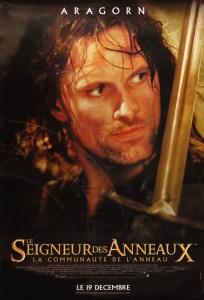 17 Aragorn French 204x300 Властелин Колец   Постеры