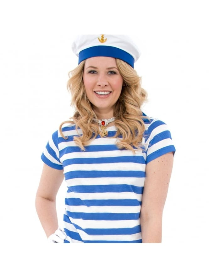 Striped Blue and White Sailor Girl Costume £6.97
