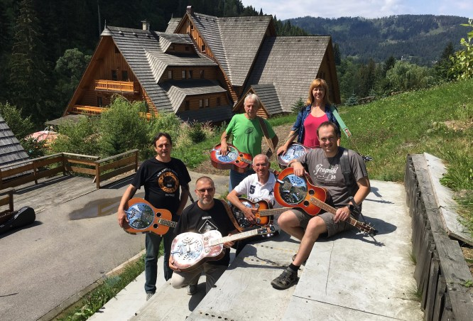 Dobro Class at Bluegrass and Wellness Workshop, Oščadnica, Slovakia 2016