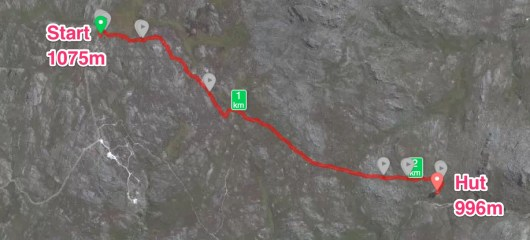 Hike in to Hut - 28 Des