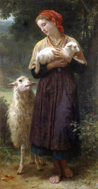 "Bouguereau William-Adolphe, ""The Shepherdess"", 1873"
