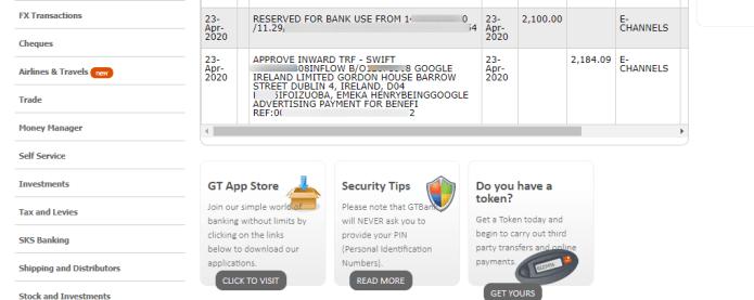 Adsense inflow - Guaranty_Trust_Bank_Internet_Banking
