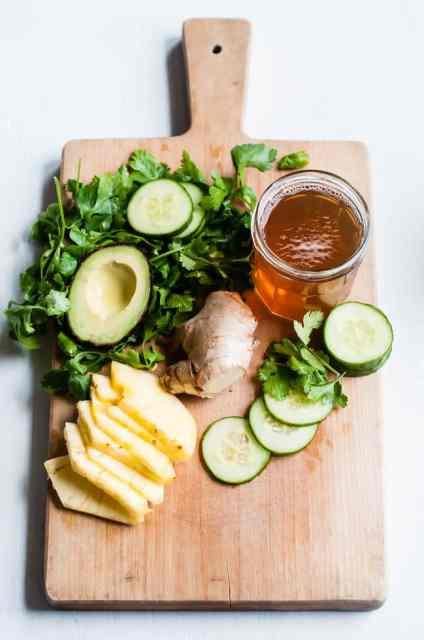 spring detox smoothie ingredients