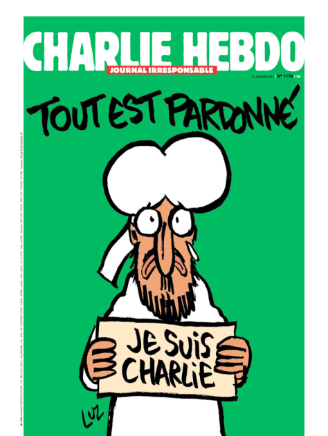 Charlie Hebdo cover January 2015